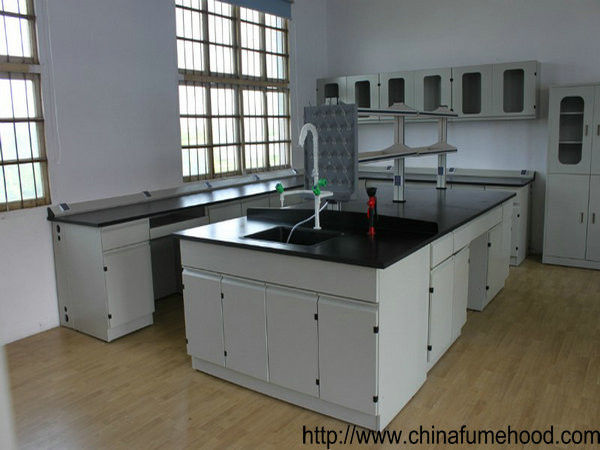 0.85m Height Science Lab Casework 13mm Solid Physiochemical Countertop