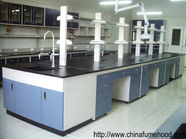 University Steel Lab Furniture Casework 13mm Thickness Solid Physiochemical Tops