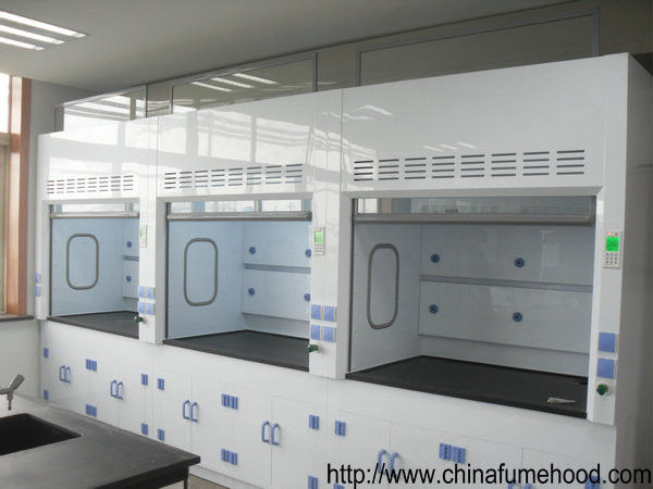 Customized Laboratory Fume Hood Anti Corrosion PP Blower Adjust Door Glass