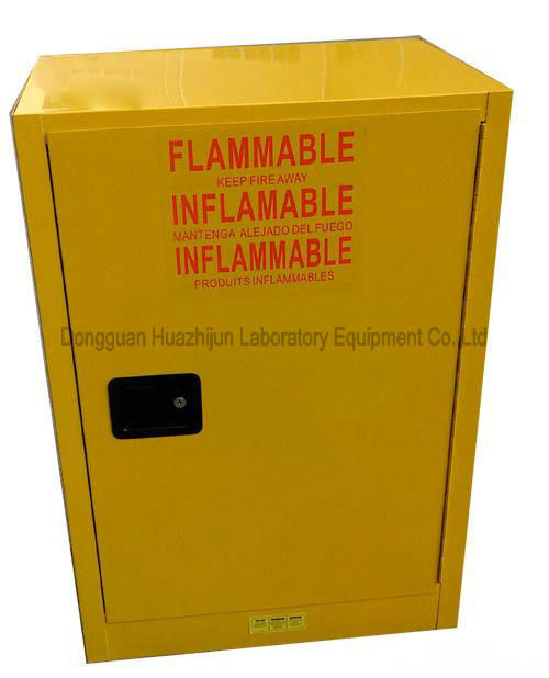 Metal Flammable Storage Cupboards Full Steel Single Door 889X591X457mm