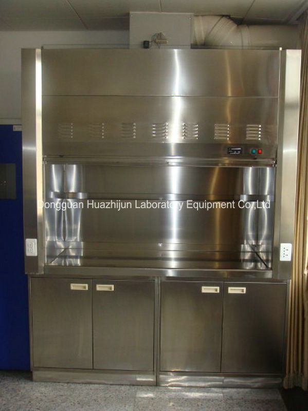 Split Type Stainless Steel Fume Hood , 1750m3/H Air Volume Chemical Fume Hood