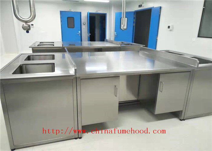 Customized Made Derectely  Original Color Laboratory Workbench Stainless Steel Lab Furniture Manufacturer