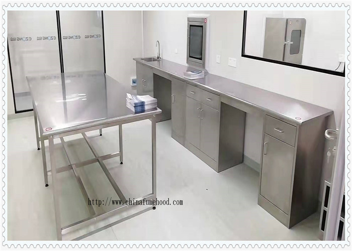 Coating 304 Stainless Steel  Lab Furniture  / SS Work Table High Performance